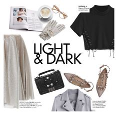 """""""light&dark"""" by punnky ❤ liked on Polyvore featuring Dice Kayek, Haute Hippie, Valentino, 3.1 Phillip Lim and Linda Farrow"""