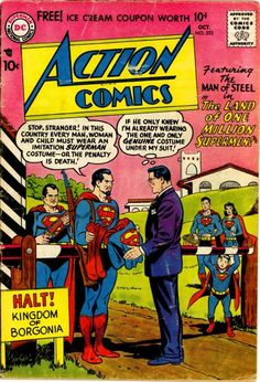 Action Comics #233, October 1957, cover by Curt Swan and Stan Kaye #comics #superman