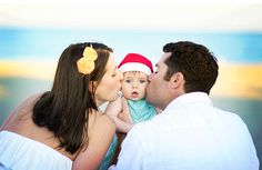 Put both kids in middle and have them kiss or laugh as we each give them a kiss