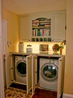 1000 images about laundry closet on pinterest laundry for Under cabinet washer and dryer