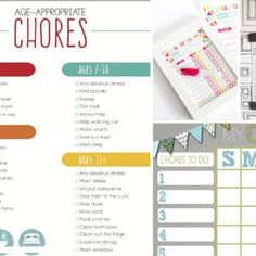 I've searched far and wide to find some of the best free printable chores charts for kids from preschoolers to teens. Because you're never too young (or too old) for chores. Free Printable Chore Charts, Chore Chart Kids, Free Printables, Daily Cleaning Checklist, Cleaning Hacks, Cleaning Wipes, Declutter, Organize, Age Appropriate Chores