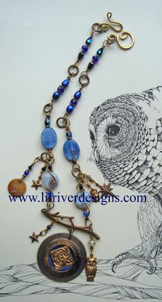 October Sky Necklace and Earring Set by lilriverdesigns on Etsy, $95.00