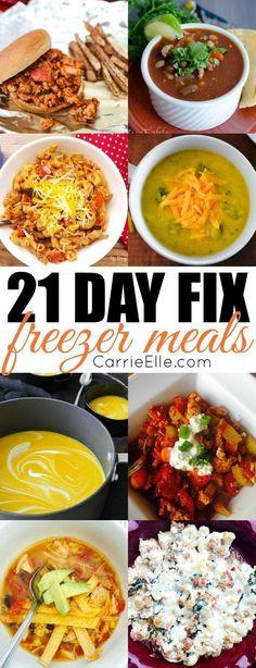 21 Day Fix Freezer Meals