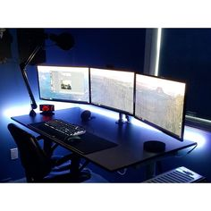 "749 Likes, 4 Comments - Mal - PC Builds and Setups (@pcgaminghub) on Instagram: ""An awesome triple monitor setup. By Redditor fmz_. - - Check out the link in my bio! - Tag a friend…"""