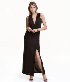 Glitterende maxi-jurk   Zwart   Dames   H&M NL