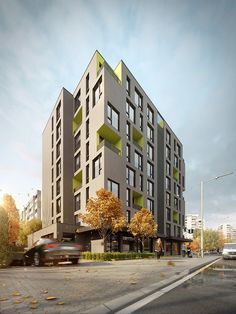 Residential building Accent is situated in Sofia, Geo Milev district. The main concept of the architectural design is to create a contemporary looking building which would act as a delicate accent in its surrounding environment. The building has eight stories with an underground parking area. The g ...