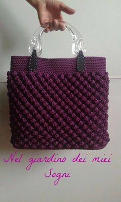 Awesome and Cool Crochet Bag Pattern Design Ideas - Page 51 of 51 Single Crochet Stitch, Basic Crochet Stitches, Crochet Basics, Handbag Patterns, Bag Patterns To Sew, Crochet Flower Tutorial, Bag Pattern Free, Crochet Handbags, Knitted Bags