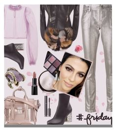 """""""Friday look"""" by joliedy ❤ liked on Polyvore featuring Daizy Shely, Maison Margiela, Roberto Cavalli, 3.1 Phillip Lim, Jitrois, Chantecaille, Chanel and Giorgio Armani"""