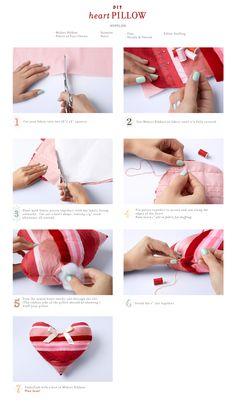 DIY - Heart Pillow - Midori Inc.