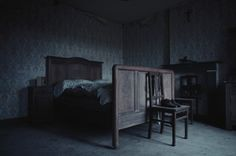 settings: the bedroom of the Crow's cottage