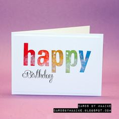 The AAA Birthday Challenge this month is: a shaker card. They're also looking for a new DT memmber, if you fancy it, I am applying :-D . It's Your Birthday, Happy Birthday, Happy Words, Shaker Cards, Candy Apples, Simon Says Stamp, Distress Ink, Pumpkin Carving, How To Apply