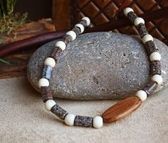 Gemstone Necklace. Mens Necklace. Fossil by LonettaAvelarDesigns, $34.99