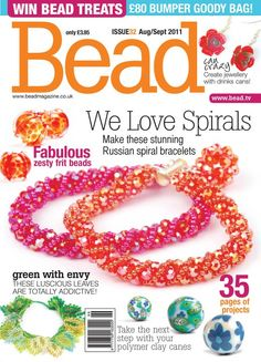 "Ed: ""Possibly my favourite front cover of Bead! Issue 32."" www.beadmagazine.co.uk"