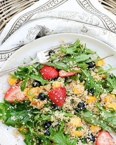 9. Berry, Arugula, and Quinoa Salad With Lemon-Chia Seed Dressing #healthy #clean #recipes http://greatist.com/eat/clean-eating-recipes-that-taste-amazing
