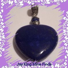 "Jay King Mine Finds Genuine LAPIS Heart Pendant NEW Jay King Mine Finds (Two Sided) Genuine LAPIS Heart Pendant   RETAIL PRICE $99  BRAND NEW, NEVER WORN.   • GENUINE BLUE LAPIS • LAPIS Measures 1.5"" W x 1"" Length • Sterling Silver Round Link is .925 and will fit a Chain up to 1/2"" in Width • Total Length of Pendant and Silver Link      is 3"". Jay King Mine Finds Jewelry Necklaces"