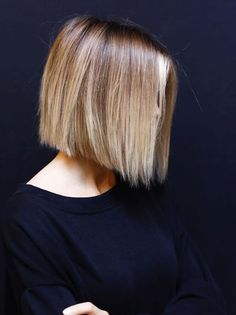 Blunt Bob Blunt Bob Hairstyles, Haircuts For Fine Hair, Hairstyles Haircuts, Short Haircuts, Layered Haircuts, 1940s Hairstyles, Hairstyle Men, Wedding Hairstyles, Long Bob Haircuts With Layers