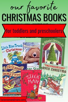 If you're doing the 25 days of Christmas, here are over 40 books to choose from! These are the best Christmas books for children to get in the Christmas spirit! Christmas books for toddlers, babies, and older children. #christmasbooks #christmas #christmastime #christmasbooksforkids
