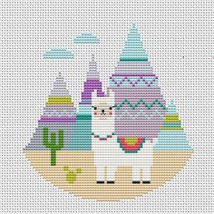Llama Cross Stitch m