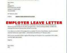 leave letter to employer sample