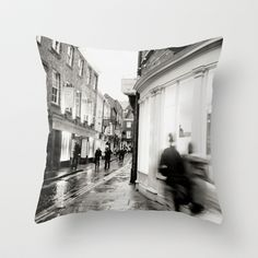 Around this corner... Throw Pillow by Anja Hebrank - $20.00  #york #uk #england #corner #shop #silouette #shopping #old #vintage #dresden #germany #deutschland #streetphotography #canon #present #decoration #kitchen #interior #bnw #blackwhite #travelling #travelphotography #design #individual #society6 #print #art #artprint #interior #decoration #design #pillow #sofa #couch #bedroom