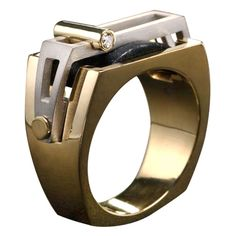Modern constructed style men's ring