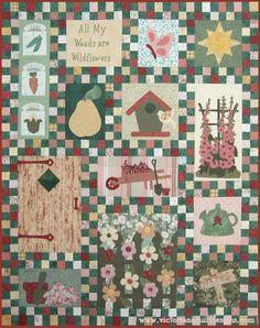 Summer Garden Quilt Pattern from Victoriana Quilt Designs http://www.victorianaquiltdesigns.com/VictorianaQuilters/PatternPage/SummerGarden/SummerGarden.htm