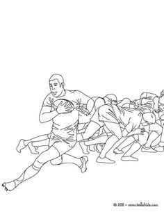 RUGBY Scrum Coloring Page More Sports Pages On Hellokids