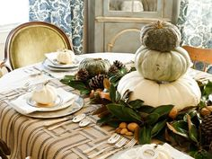 Craft a Rustic Woven Runner - Our 45 Favorite Fall Decorating Ideas on HGTV