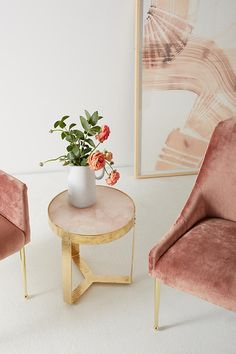 Anthro Pink Quartz Table