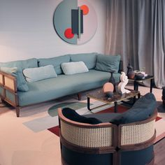 Highlights and trends from Stockholm Furniture Fair 2019 - colour palette, rattan, spindles and textures. Rattan Furniture, Outdoor Furniture, Outdoor Decor, Scented Oils, Warm Grey, Beige Color, Contemporary Interior, Soft Furnishings, Vienna