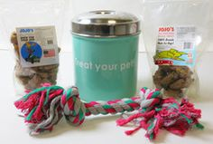 Treat Container Stainless Steel, Dog Treats and Rope Toy - Adog.co  - 2