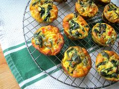Mini Swiss Chard Quiches - I added red pepper and used peperjack cheese.  Great!