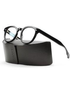 Oliver Peoples 5036 4270 Black Sheldrake Round Sunglasses ❤ Oliver Peoples