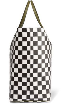 Givenchy | Antigona Shopping large checked textured-leather tote | NET-A-PORTER.COM