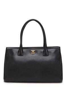 5af7cb74b281 Black Caviar Cerf Executive Tote Bag Chanel Tote, Chanel Handbags, Chanel  Caviar, Chanel