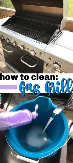 Get ready for grilling season with this step by step photo guide on how to clean your gas grill. Easy instructions that will have you grilling in no time! - Gas Grill - Ideas of Gas Grill Deep Cleaning Tips, House Cleaning Tips, Diy Cleaning Products, Spring Cleaning, Cleaning Hacks, Grill Cleaning, Fridge Cleaning, Kitchen Cleaning, Kitchen Hacks