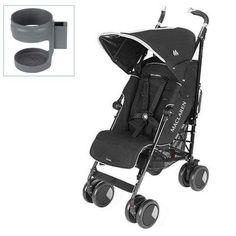 Maclaren Techno XT Stroller with Cup holder – Black