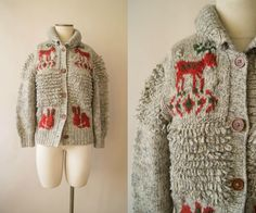 Your place to buy and sell all things handmade Reindeer Sweater, 1960s, Unique Gifts, Holiday Sweaters, Stitch, Wool, Knitting, Crochet, Handmade