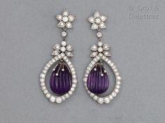 Amethyst Earrings, Drop Earrings, Motifs, Jewelery, Soldering, Drop Earring, Ancient Jewelry, Gout, Jewlery