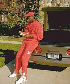 Michael Jordan and his Corvette 1984