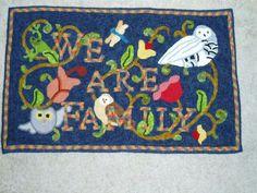 Joan Sponagle's owl rug