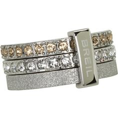 Breil Milano Breilogy Ring With Crystals