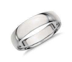 Men S Mid Weight Comfort Fit Wedding Ring In Platinum