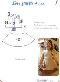 Mädchenkleid , Kostenloses Schnittmuster