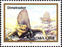 Stamp: Dimetrodon (Cinderellas) (Abkhazia) Col:AB 1993-04