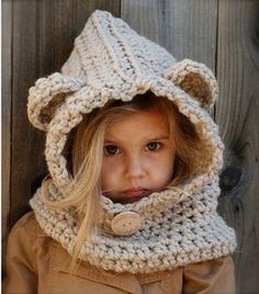 Baylie Bear Cowl Crochet children pattern available at LoveCrochet. Find more patterns by The Velvet Acorn and share your own projects at Ideas For Knitting Cowl Kids Velvet AcornGet Crochet Patterns from this shop! Bonnet Crochet, Crochet Bear, Crochet For Kids, Crochet Hats, Free Crochet, Funny Crochet, Crochet Children, Crochet Coaster, Crochet Headbands