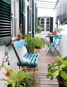 Pasión mediterránea - pequeña terraza