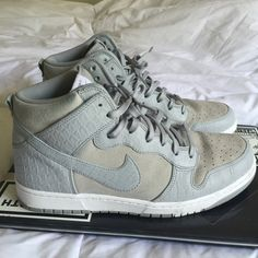 look for cd86f 76ad4 Nike Shoes   Nike Hi Tops   Color  Gray White   Size  11
