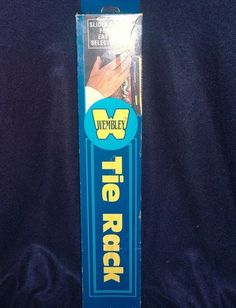 Vintage WEMBLEY Tie and Belt or Scarf Closet Retractable Organizer New In Box #Wembley