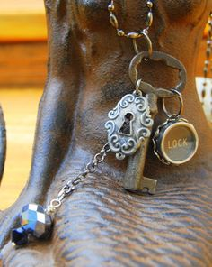 Skeleton Key Necklace  Handmade Pendant Using A by JustWearThese, $18.00